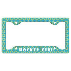 Hockey Girl License Plate Holder
