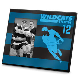 Rugby Photo Frame Personalized Player With Stripes