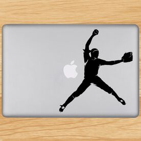 Softball Pitcher Removable ChalkTalkGraphix Laptop Decal