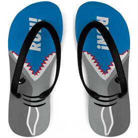 Running Flip Flops Shark Attack