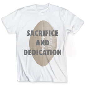 Vintage Football T-Shirt - Sacrifice and Dedication