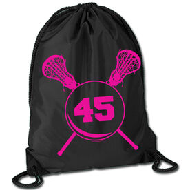 Lacrosse Sport Pack Cinch Sack Personalized Girls Lacrosse Sticks with Number