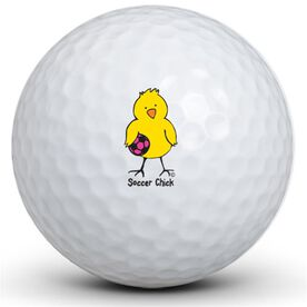 Soccer Chick Golf Balls