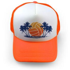 Volleyball Trucker Hat - Sunset