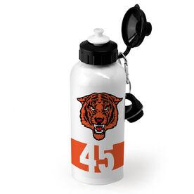 Baseball 20 oz. Stainless Steel Water Bottle Custom Logo and Number