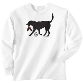Soccer Tshirt Long Sleeve Sammy the Soccer Dog