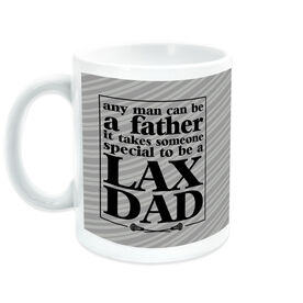 Guys Lacrosse Ceramic Mug Any Man LAX DAD Quote
