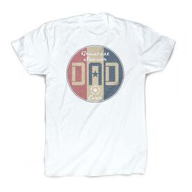 Soccer Vintage T-Shirt - Greatest Dad Stripes