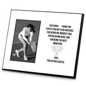 Tennis Photo Frame - Dear Mom Heart