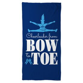 Cheer Beach Towel From Bow to Toe