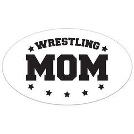 Wrestling Oval Car Magnet Wrestling Mom
