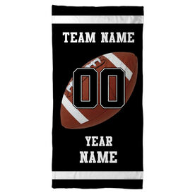 Football Beach Towel Personalized Team