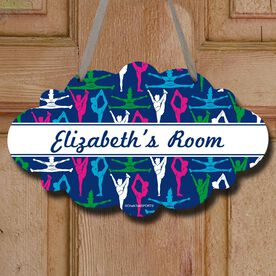 Cheerleading Cloud Sign Personalized Cheer Girl Pattern