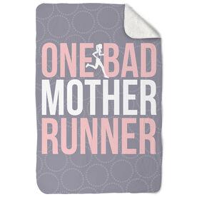 Running Sherpa Fleece Blanket One Bad Mother Runner
