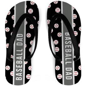 Baseball Flip Flops Dad Pattern