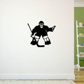 Hockey Goalie Removable ChalkTalkGraphix Wall Decal