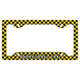 Basketball Taxi License Plate Holder