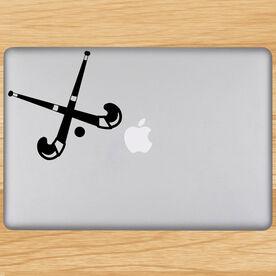 Field Hockey Sticks Removable ChalkTalkGraphix Laptop Decal