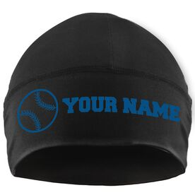 Beanie Performance Hat - Personalized Name Softball Ball