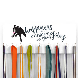 Hooked On Medals Hanger Happiness Is Running With Your Dog