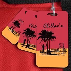 Lacrosse Bag/Luggage Tag Chillax'n Beach Guy