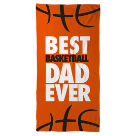 Basketball Beach Towel Best Dad Ever