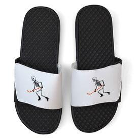 Hockey White Slide Sandals - Skeleton Hockey