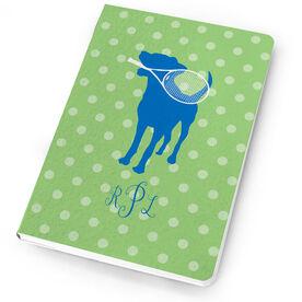 Tennis Notebook Monogrammed Dog