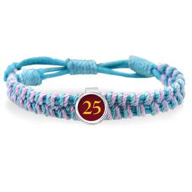 Your Soccer Team Number Adjustable Woven SportSNAPS Bracelet