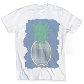 Vintage Tennis T-Shirt - Preppy Pineapple