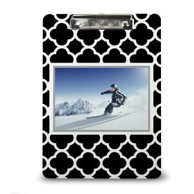 Skiing & Snowboarding Custom Clipboard - Your Photo Pattern