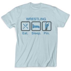 Vintage Wrestling T-Shirt - Eat Sleep Pin