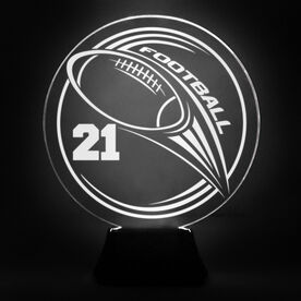 Football Acrylic LED Lamp Hail Mary With Number