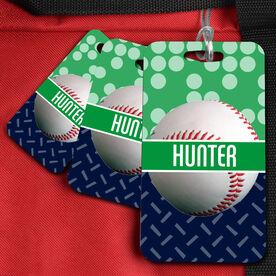 Baseball Bag/Luggage Tag Personalized 2 Tier Patterns with Baseball