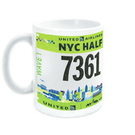 Your Race Bib on a Ceramic Mug