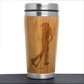 Bamboo Travel Tumbler Field Hockey Player
