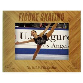 Figure Skating Bamboo Engraved Picture Frame Figure Skating