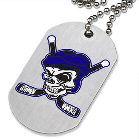 Hockey Pirate Printed Dog Tag Necklace