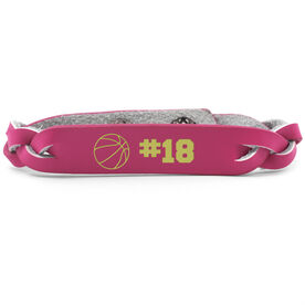 Basketball Leather Engraved Bracelet Ball with Number