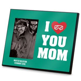 Snowboarding Photo Frame I Heart You Mom Snowboard