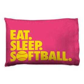 Softball Pillowcase - Eat Sleep Softball