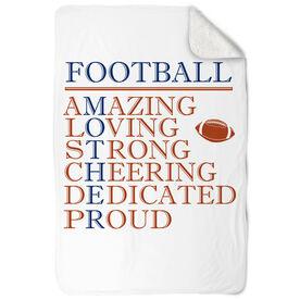 Football Sherpa Fleece Blanket - Mother Words