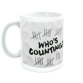 Golf Ceramic Mug Whos Counting