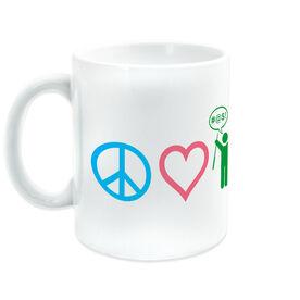 Golf Ceramic Mug Peace Love Golf