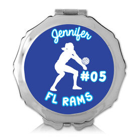 Personalized Volleyball Girl Color Compact Mirror