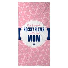 Hockey Beach Towel My Favorite Player