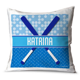 Softball Throw Pillow Personalized 2 Tier Patterns With Crossed Bats
