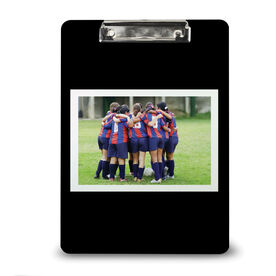 Soccer Custom Clipboard Soccer Your Photo Solid Background