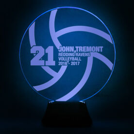 Volleyball Acrylic LED Lamp With 4 Lines and Number