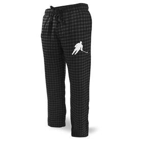 Hockey Lounge Pants Player Silhouette Guy